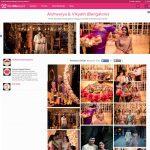 Aishwarya and Vikyath's engagement created by us on WedMeGgod!