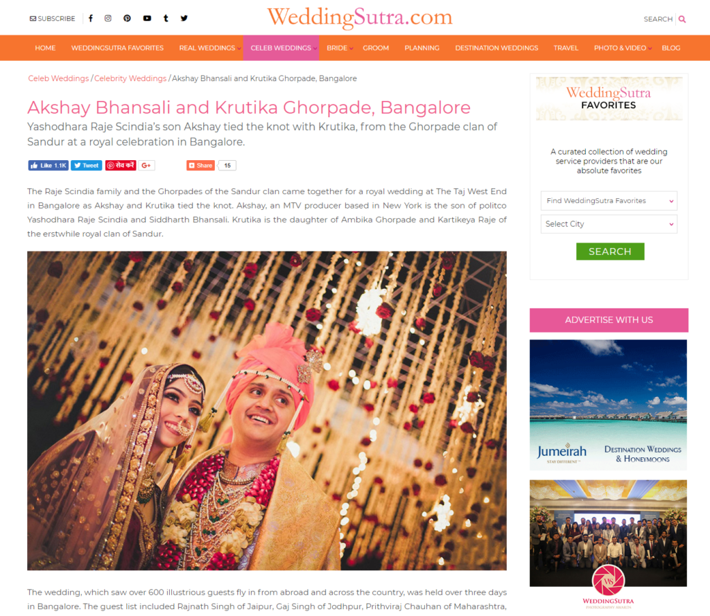 Royal Wedding Planners in Bangalore