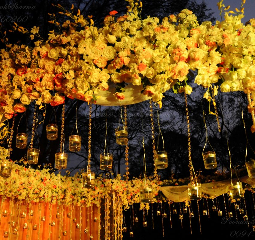 Floral Candle Light Wedding Planner